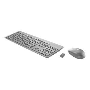 CLAVIER D'ORDINATEUR HP Slim - Ensemble clavier et souris - sans fil -