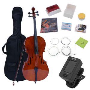 VIOLONCELLE  4/4  Ensemble de violoncelle fait main en bois d'