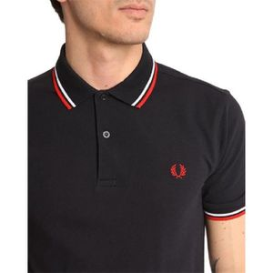 POLO Polo FRED PERRY pour Homme Bleu Marine Logo Rouge