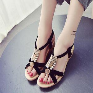 SANDALE - NU-PIEDS Sandales Noir Chaussures Femme (vérification de la
