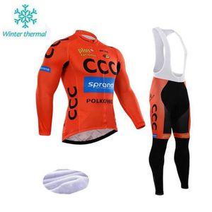 MAILLOT DE CYCLISME CCC Maillot de cyclisme à manches longues en molle