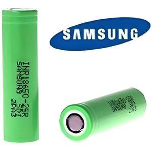BATTERIE E-CIGARETTE Lot de 2 Accus Samsung INR 18650 en 25R