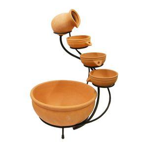 FONTAINE DE JARDIN Jeu de pots pour fontaine en terre cuite petit Ubb