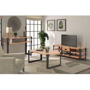 table basse vidaxl mobilier de salon 3 pices bois dacacia ma - Mobilier De Salon