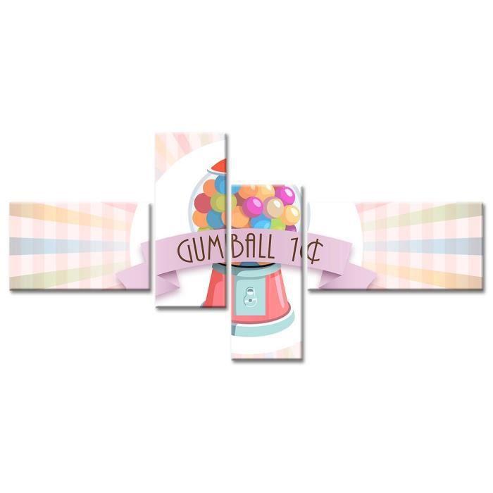 Thème : Pas de thème - Tableau Déco Vintage Déco Pour les Gourmands - 130x65 cm - MulticouleurTABLEAU - TOILE