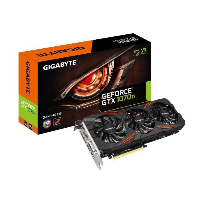 GIGABYTE Carte Graphique GTX 1070 Ti Gaming 8 Go (GV-N107TGAMING-8GD)CARTE GRAPHIQUE INTERNE
