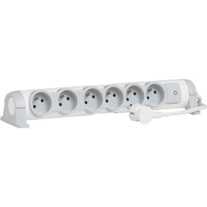 LEGRAND Rallonge multiprise Confort bloc de prises rotatif 6x2 P+T 1,5 m