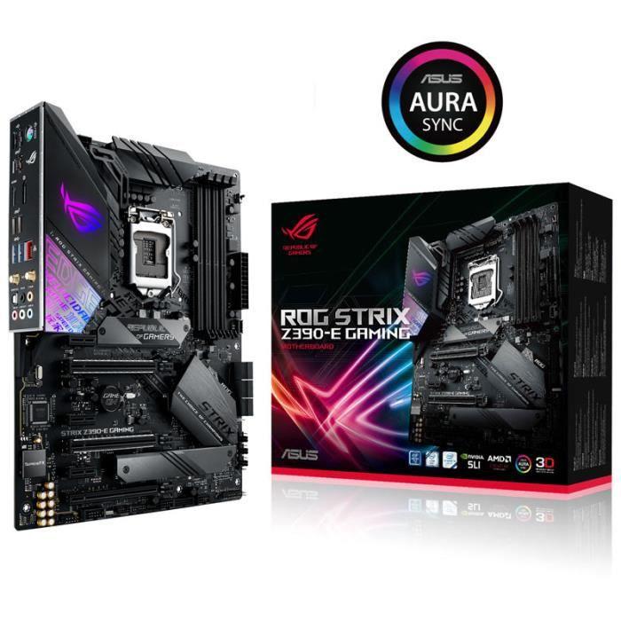CARTE MÈRE Carte mère ASUS STRIX Z390-E Gaming, Intel Z390  R