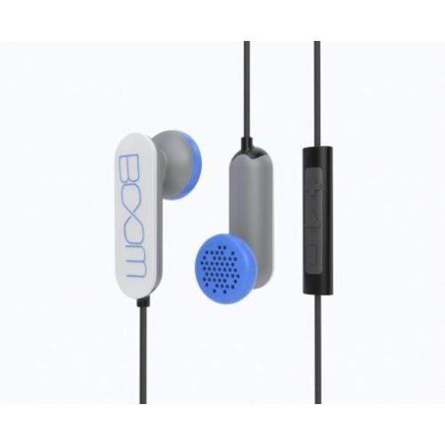 Boom Spooners Couteurs Intra-auriculaires Avec Microphone En Ligne Blanc
