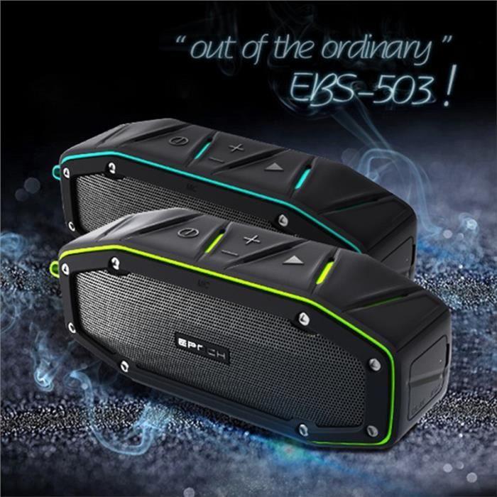 Extérieur Étanche Haut-parleur Bluetooth Ipx6 Portable Résistant À L'eau Sans Fil 4.1 Intégré Mic Super