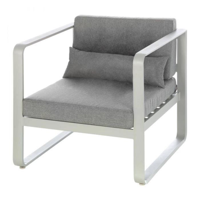 FAUTEUIL EXTERIEUR ABSOLU HESPERIDE GRIS - Achat / Vente fauteuil ...