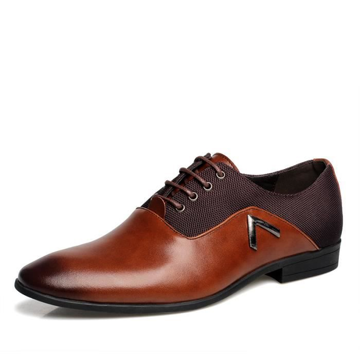 Homme chaussures en cuir Business chaussures habillées chaussures