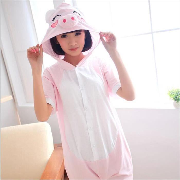 Confortable Grande Pyjama Costume Vêtements De Unisexe Adulte S Rose Taille Coton D'été xl Porcs Nouvelle Pour Nuit ErrqYx7Onw