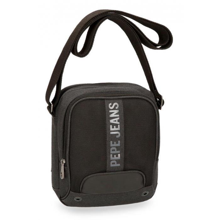 528be30a65d BESACE - SAC REPORTER Pepe Jeans sac à bandoulière noir petit Greenwich