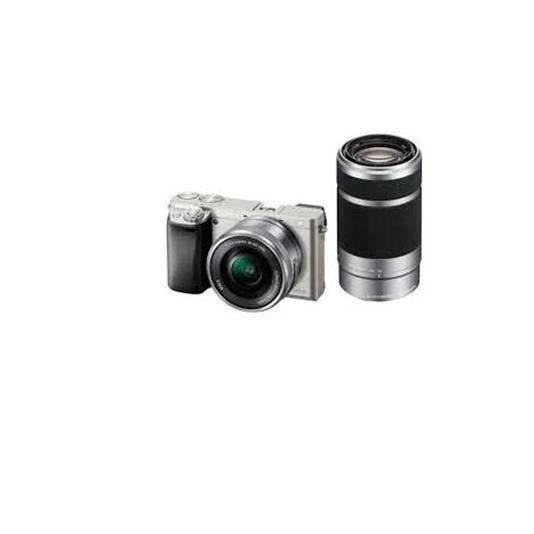 APPAREIL PHOTO COMPACT Sony ILCE-6000Y Double Kit (16-50)(55-210) argent