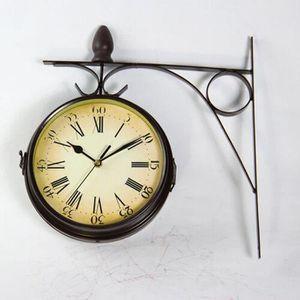 Horloge murale double face - Achat / Vente pas cher