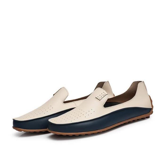chaussures homme En Cuir Antidérapant De Marque De Luxe MoccasinsRespirant Confortable Grande Taille Loafer hommes Nouvelle Mode