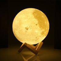 LAMPE A POSER  Déstockage ! !  Lampe Lune de 20CM - Interrupteur