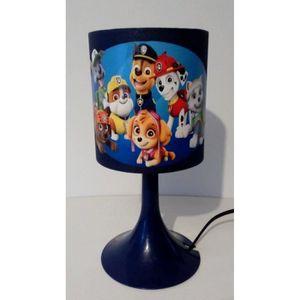 LAMPE A POSER LAMPE DE CHEVET BLEU PAT PATROUILLE