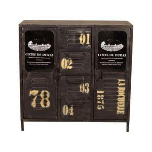 meuble industriel commode achat vente meuble industriel commode pas cher cdiscount. Black Bedroom Furniture Sets. Home Design Ideas