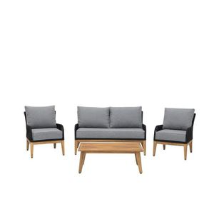 Salon de jardin bois et gris - Achat / Vente pas cher