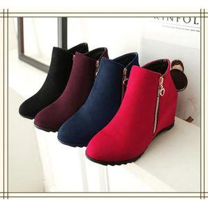 27c62ec449260 BOTTINE Femme Hiver Élégant Décontractée Chaussures Bottes