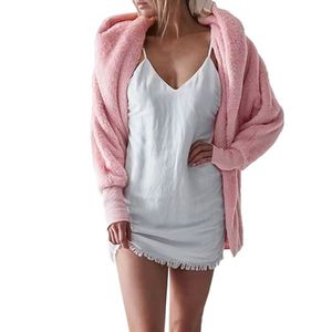 super popular b38d1 a0ae6 MANTEAU - CABAN Femmes femmes capuche Fluffy Manteau d hiver Veste ...