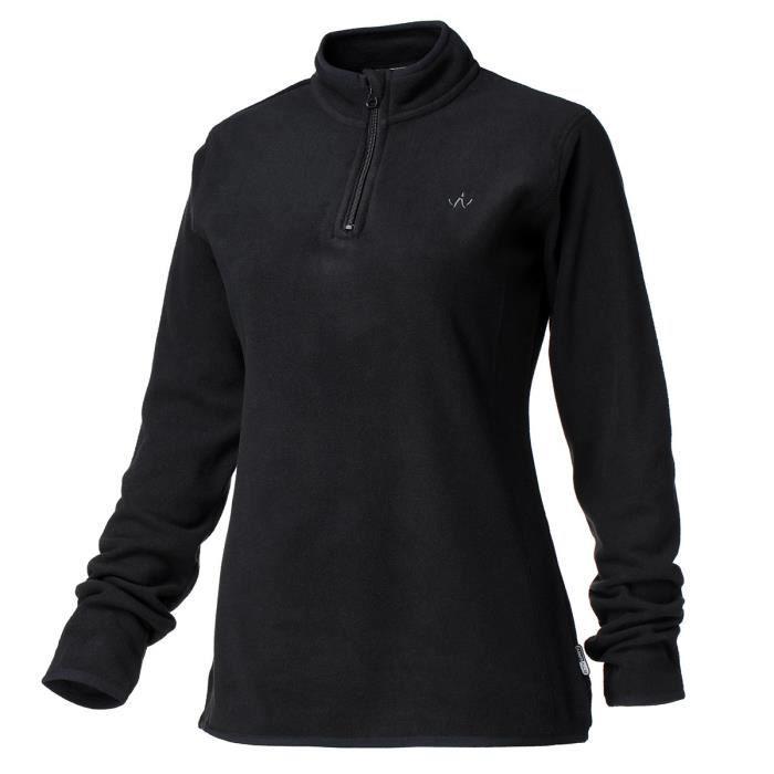 WANABEE Sweatshirt de randonnée Lady Polaire 2 - Femme - Noir