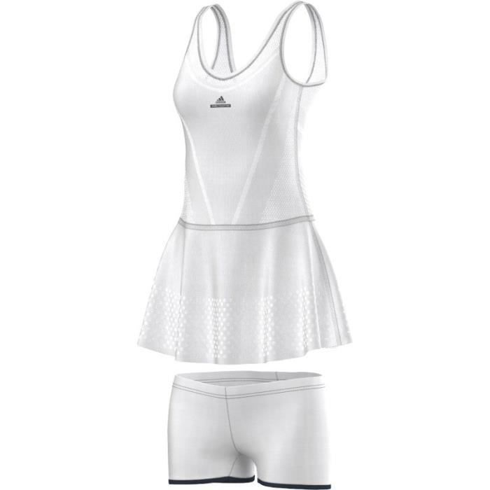 ADIDAS Robe de Tennis Avec Short Blanche