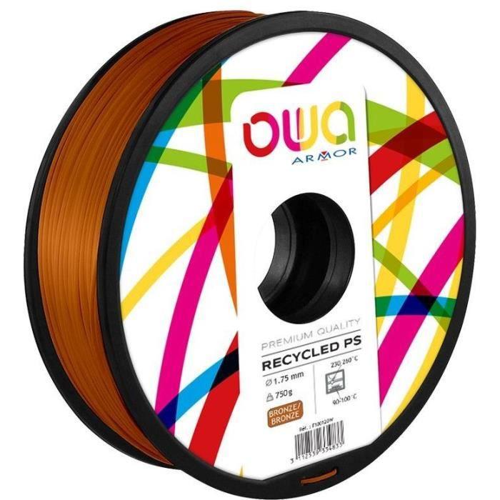 OWA Bobine de Filaments pour imprimante 3D - PS - Bronze