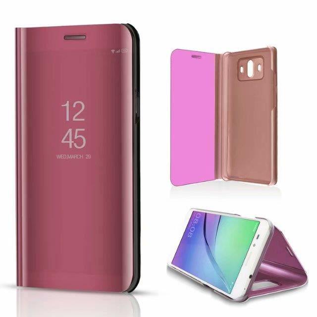 undefeated x low price recognized brands Etui Huawei Honor 9 Lite.rose Mode Style classique d'affaires perspective  téléphone flip élégant transparent miroir style