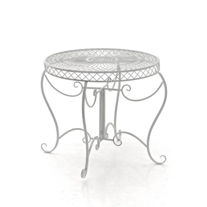 Table ronde fer forge achat vente table ronde fer for Clp annex 6 table 3 1