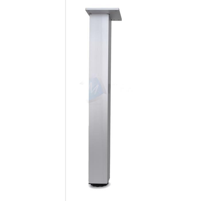 lot de 1 pied de table 710mm aluminium carr 60x60mm. Black Bedroom Furniture Sets. Home Design Ideas