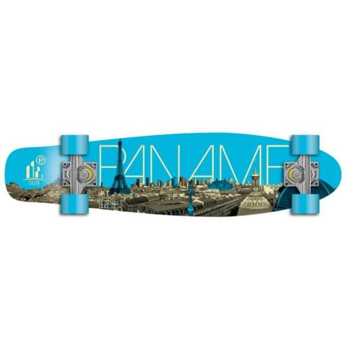 Prohibition Oldschool Skateboard Wood Cruiser 70s Style Paname - 28 x 7 0  inch - Maplewood skateboard with Koston ball bearings