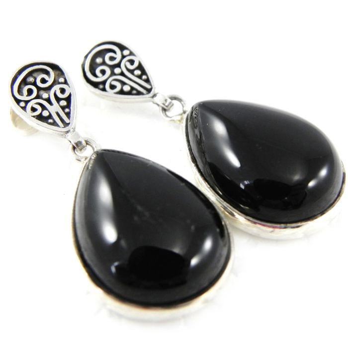 Boucles Argent Ruth onyx