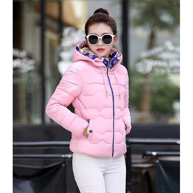 en arrivant nouveaux prix plus bas caractéristiques exceptionnelles Hiver Femmes Mode Veste Manteau Court Doudoune