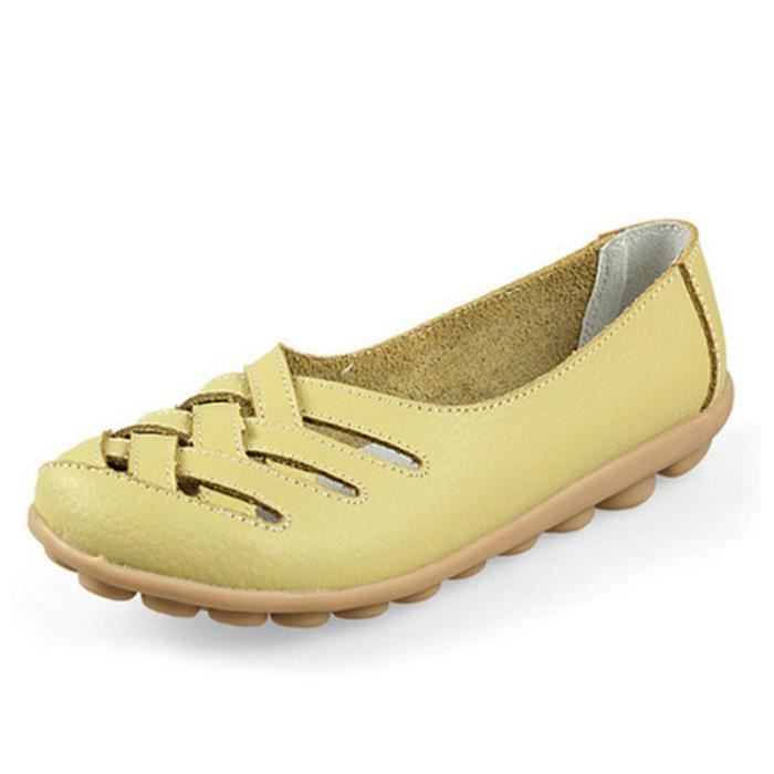 femme Moccasins De Marque De Luxe Respirant Loafer Haut qualité Confortable Antidérapant Chaussure Plus Taille 34-42