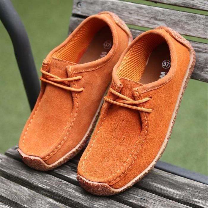 Chaussures plates Femme personnalité Antidérapant Moccasins femmes printemps et automne Chaussures Confortable Plus De Couleur