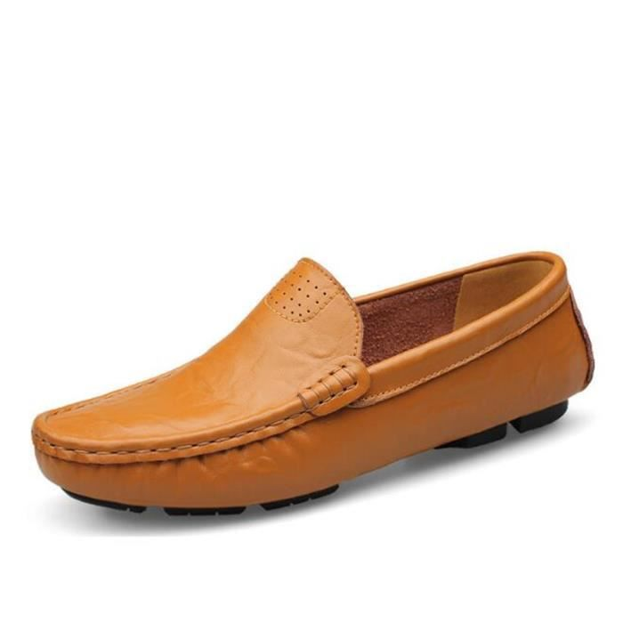 Mocassin Hommes Mode Chaussures Grande Taille Chaussures BJYG-XZ73Orange37