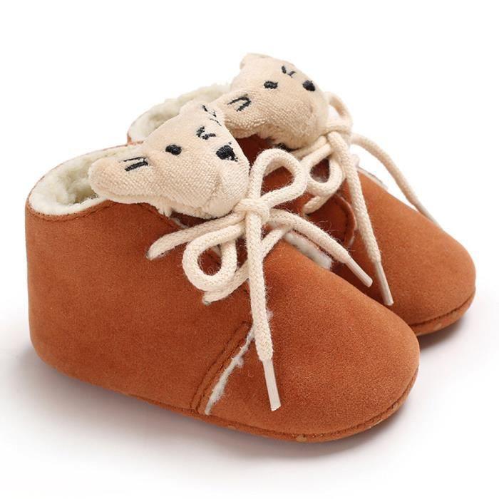 Petit Neige Fille on Doux Bb Chaussures Gar Tout petits Bootie De con9631 Chaudes Bandage Ours Bottes dX4vHqw