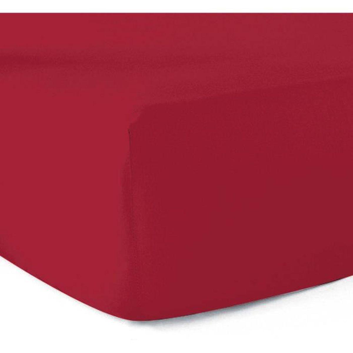 drap housse 140x190 rouge Drap housse 140x190   100% coton 57 fils   Rouge   Achat / Vente  drap housse 140x190 rouge