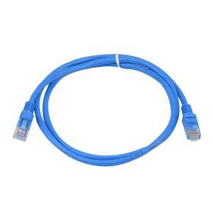 CÂBLE RÉSEAU  1M Bleu externe extérieur Câble réseau Ethernet Ca