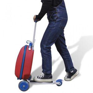 TROTTINETTE ELECTRIQUE Trottinette rouge pour enfant avec valise à l'avan