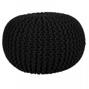 POUF - POIRE Grand 50cm Rond Tricot Coton Pouf Pied Boule Tabou 2d53314f9bd