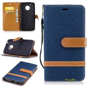 COQUE - BUMPER RongLe® Coque Motorola Moto G5,Protection Folio Po