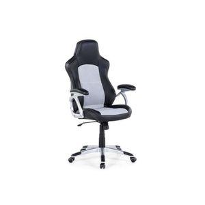 CHAISE DE BUREAU Chaise de bureau - Fauteuil simili-cuir noir et gr
