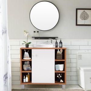 Rangement salle de bain bois - Achat / Vente Rangement salle de bain ...