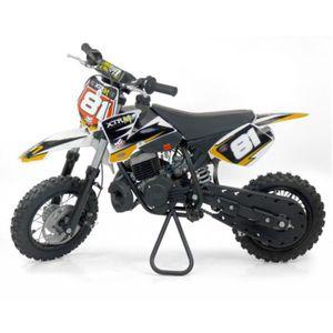 MOTO PIT BIKE 50cc - Orange - avec montage et mise en r