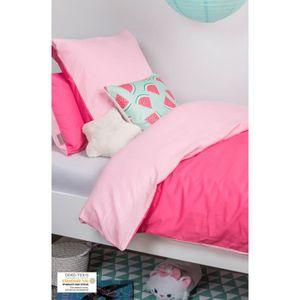 HOUSSE DE COUETTE SEULE Set Housse de Couette et taie 140x200 Rose Pastel