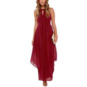 c9ad004335287 Maxi robe longue de soiree en mousseline de soie femmes elegantes ...